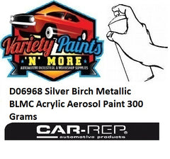 D06968 Silver Birch Metallic BLMC Acrylic Aerosol Paint 300 Grams