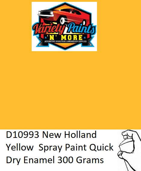 D10993 New Holland Yellow  Spray Paint Quick Dry Enamel 300 Grams