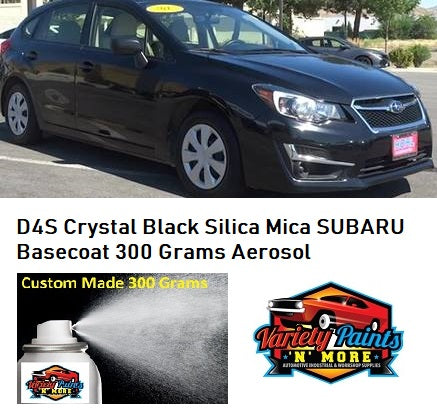 D4S Crystal Black Silica Mica Subaru Basecoat Touch Up Paint 300 Grams
