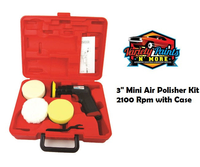 "3"" Mini Air Polisher Kit 2100 Rpm with Case NEW"