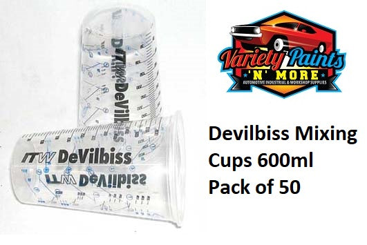 Devilbiss 600ml Mixing Cup Pack of 50 Cups