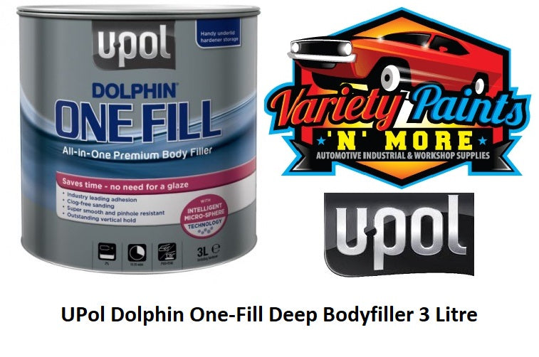 UPol Dolphin One-Fill Deep Bodyfiller 3 Litre