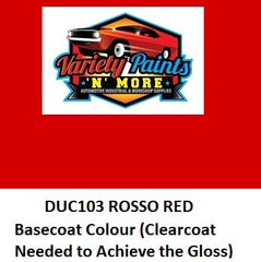 Rosso Red DUCAT103 Basecoat Colour Touch Up Bottle 50ml