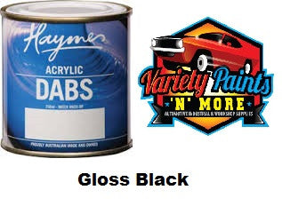 Haymes DABS Acrylic Paint Gloss Black 250ml