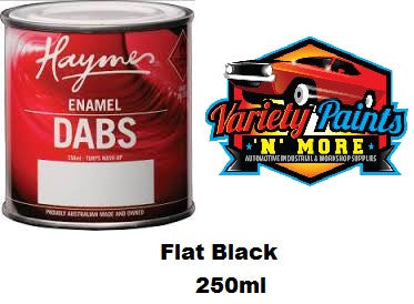 Haymes DABS Enamel Paint Flat Black 250ml