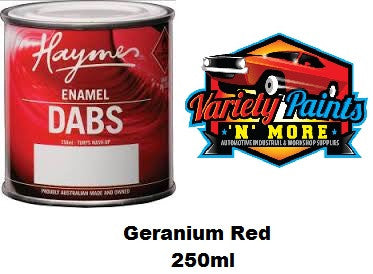 Haymes DABS Enamel Paint Geranium Red 250ml