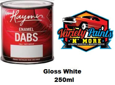 Haymes DABS Enamel Paint Gloss White 250ml