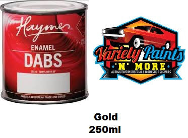 Haymes DABS Enamel Paint Gold 250ml