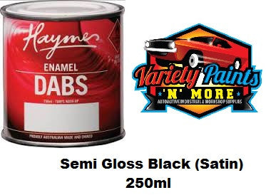 Haymes DABS Enamel Paint Semi Gloss Black (Satin) 250ml