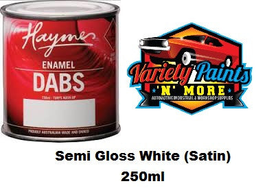 Haymes DABS Enamel Paint Semi Gloss White (Satin) 250ml