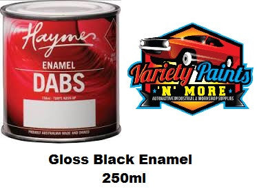 Haymes DABS Enamel Paint Gloss Black 250ml