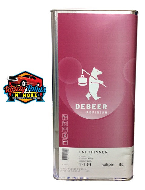 Debeers 2K Uni Thinner Medium 5 Litre 1-151