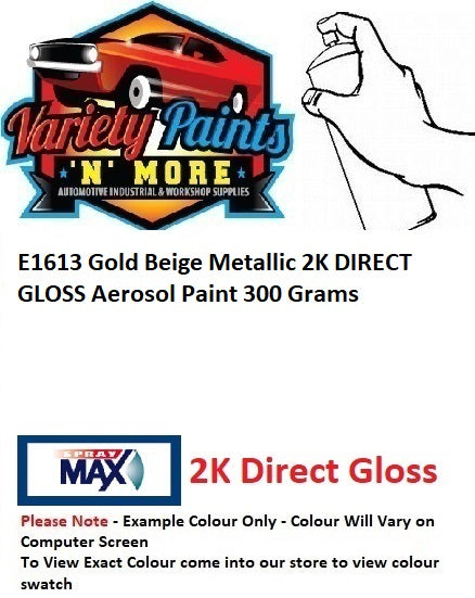 E1613 Gold Beige Metallic 2K DIRECT GLOSS Aerosol Paint 300 Grams