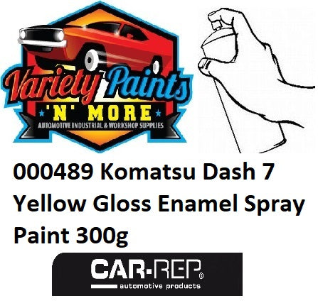 000489 Komatsu Dash 7 Yellow Gloss Enamel Spray Paint 300g