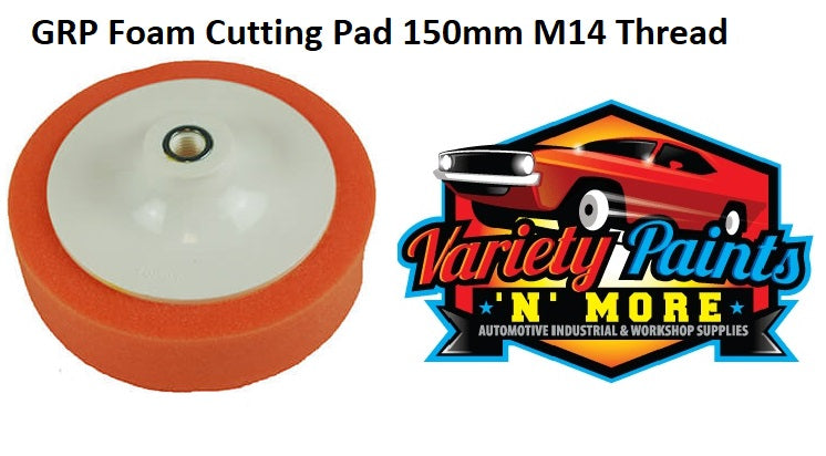 COMPOUNDING AUTO PAINT.SUIT VELCR0 1 X WHITE FOAM WAFFLE PAD 200mm FOR CUTTING