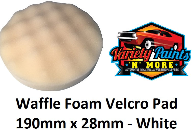 GRP Waffle Foam Velcro Buff Pad White -Compounding 190mm x 28mm