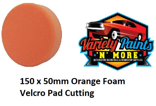 GRP 150 x 50mm Orange Foam Velcro Pad Cutting
