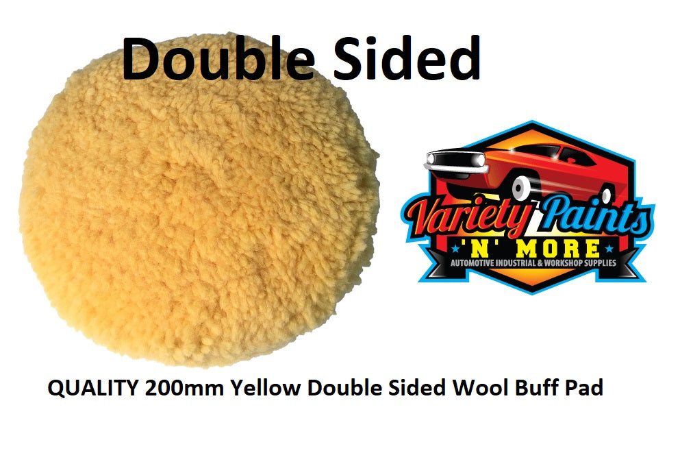 200mm Yellow Double Sided Wool Buff Pad