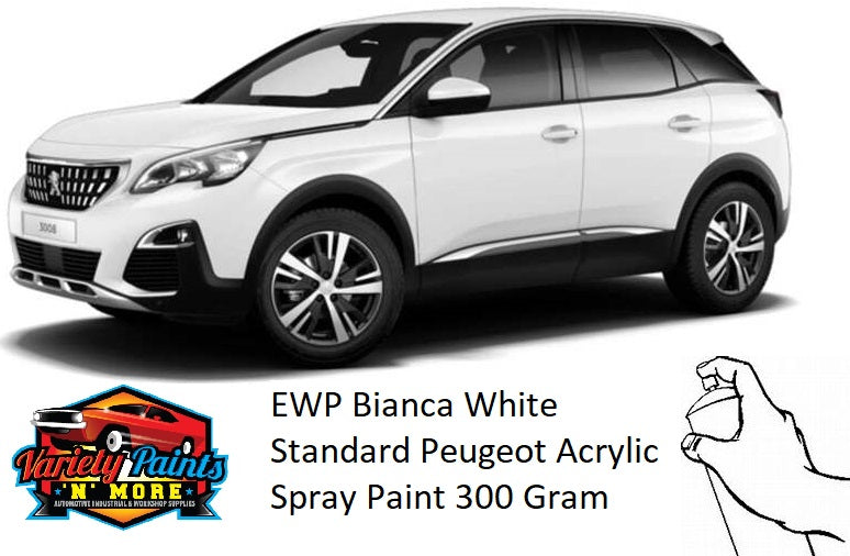EWP Bianca White Standard Peugeot Acrylic Spray Paint 300 Grams