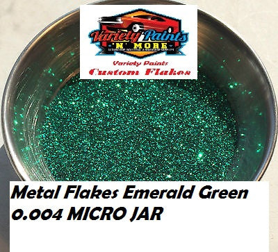 Metal Flakes Emerald Green 0.004 Micro 4 Oz Jar