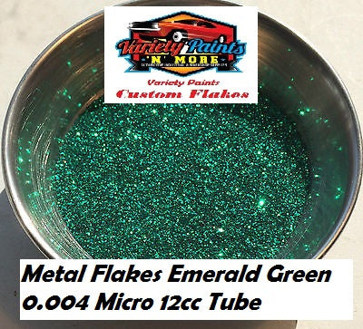 Variety Paints Metal Flakes Emerald Green 0.004 Micro 12cc Tube