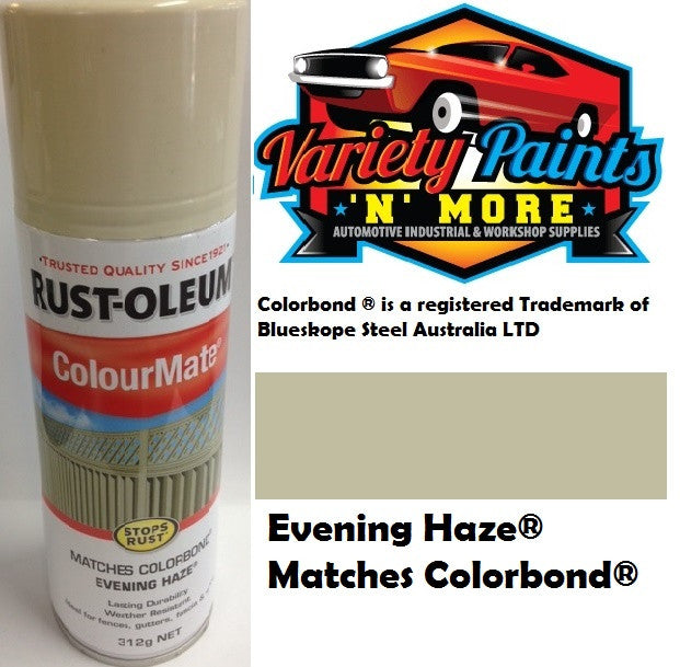 RustOleum Colourmate Evening Haze Colorbond Spray Paint 312g