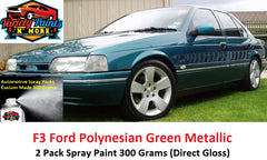 F3 Polynesian Green Metallic FORD 2K Touch Up Paint 300 Grams