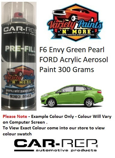 F6 Envy Green Pearl FORD Acrylic Aerosol Paint 300 Grams