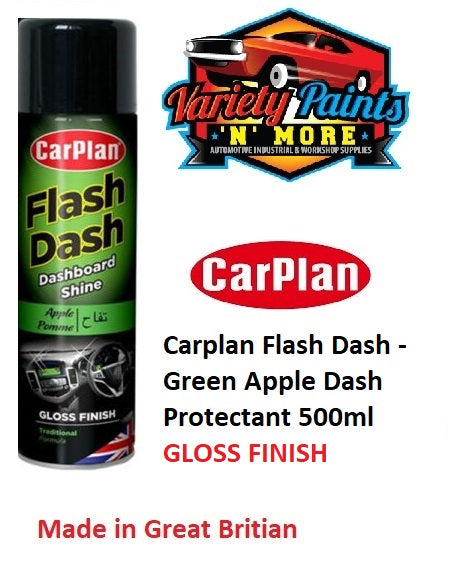 Carplan Flash Dash - Green Apple Dash Protectant 500ml GLOSS FINISH