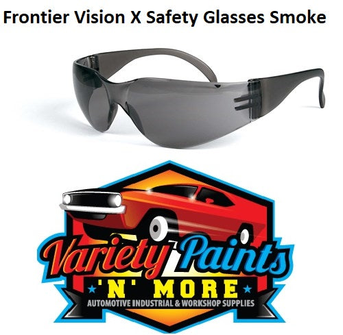 Frontier Vision X Safety Glasses Smoke BOX OF 12 PAIRS