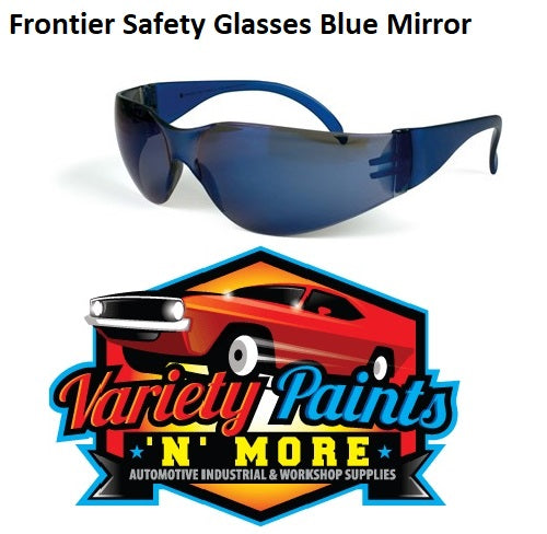 Frontier Safety Glasses Blue Mirror Vision X