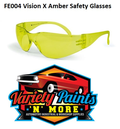 Frontier Safety Glasses - VISION X  Amber lens
