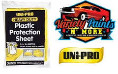 Unipro Heavy Duty Plastic Protection Sheet 2.6 Metres X 3.6 Metres Variety Paints N More
