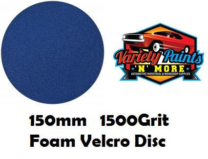 Norton Single 1500 Grit Ice Foam Discs 150mm Blue