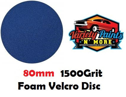 Norton Single 1500 Grit Ice Foam Discs 80mm Blue