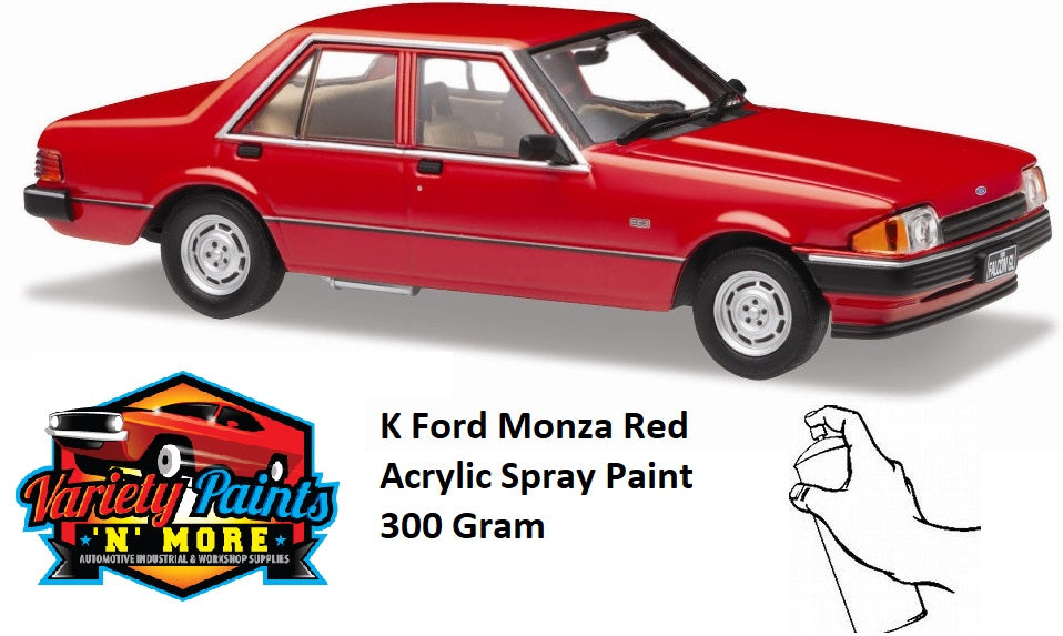 K Monza Red FORD Acrylic Standard Touch Up Paint 300 Grams