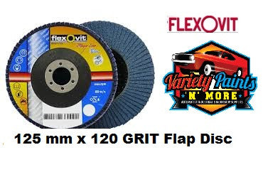 Flexovit Flap Disc 125mm x 120 Grit