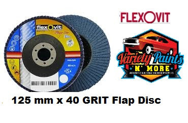 Flexovit Flap Disc 125mm x 40 Grit