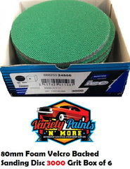 Norton BOX 6 3000 Grit Ice Foam Discs 80mm Green