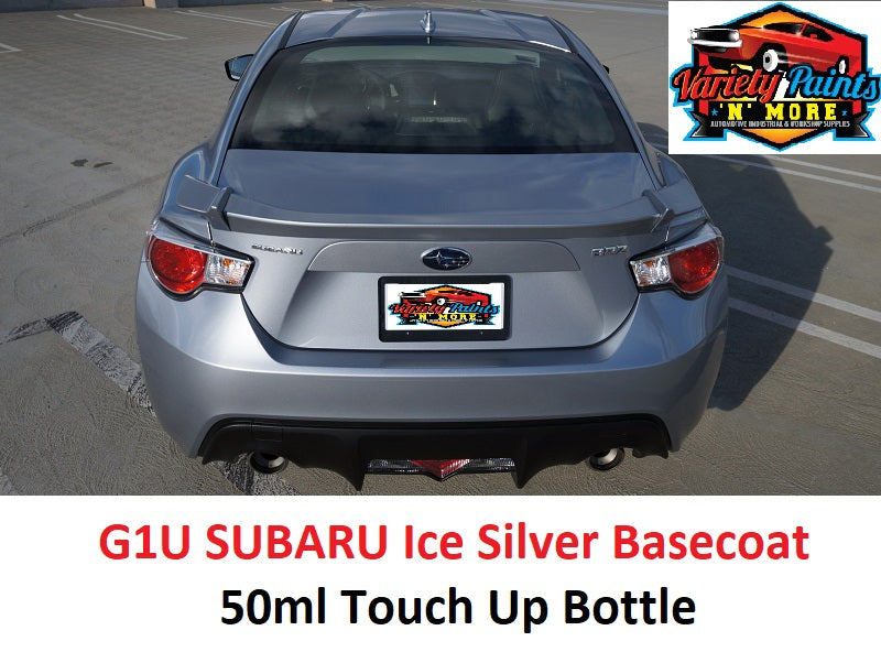 Variety Paints G1U SUBARU Ice Silver Basecoat 50ml Touch Up Bottle