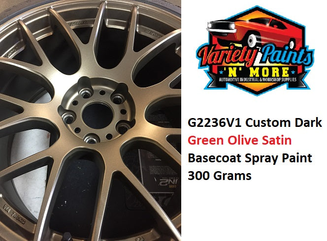 G2236V1 Dark Olive Metallic Wheels Basecoat  Aerosol Paint 300 Grams