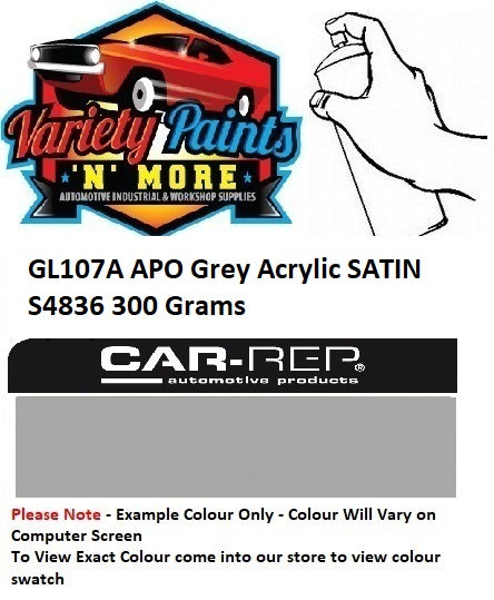 GL107A APO Grey Acrylic SATIN Spray Paint 300g S4836
