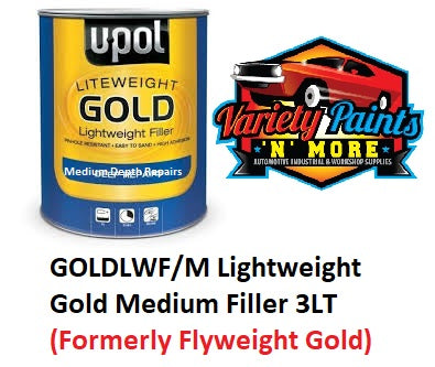 UPol Gold Lightweight Premium Body Filler 3 Litre Can