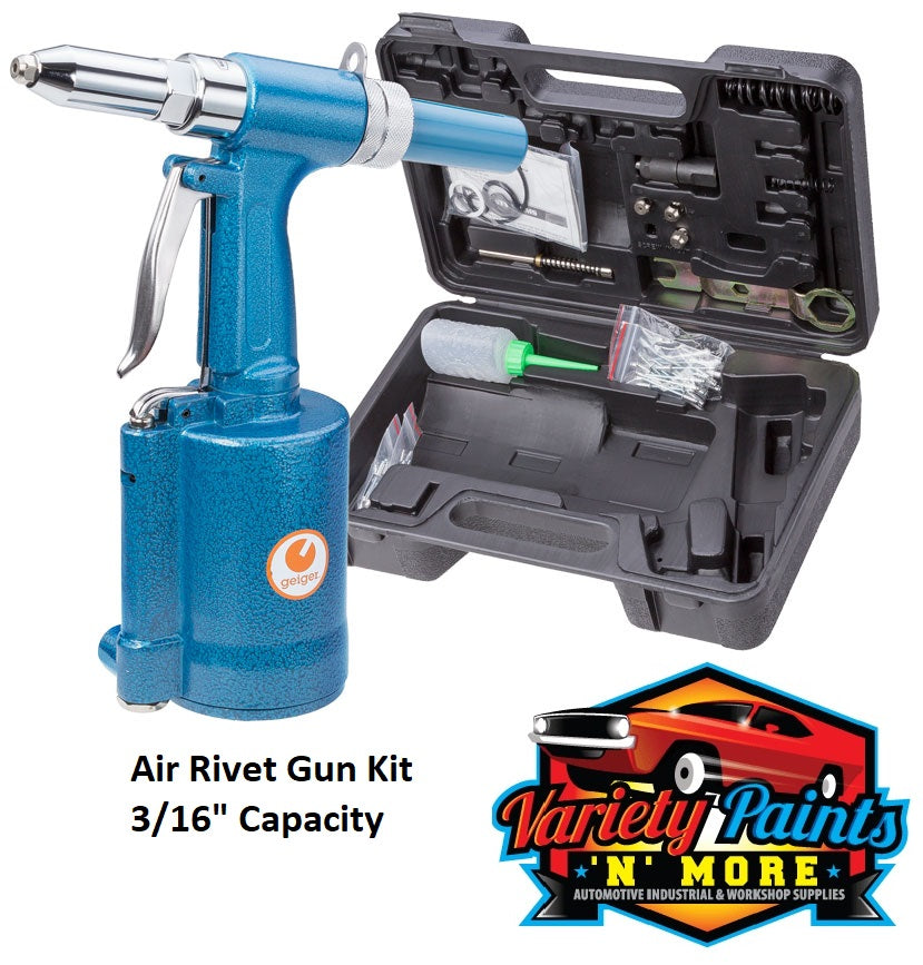 "Air Rivet Gun Kit 3/16"" Capacity"