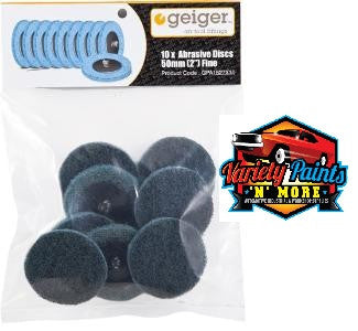 Geiger 50mm Blue Abrasive Disc (Pack of 10)