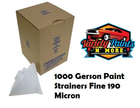 GERSON Paint Strainers Fine 190 Micron BOX OF 1000