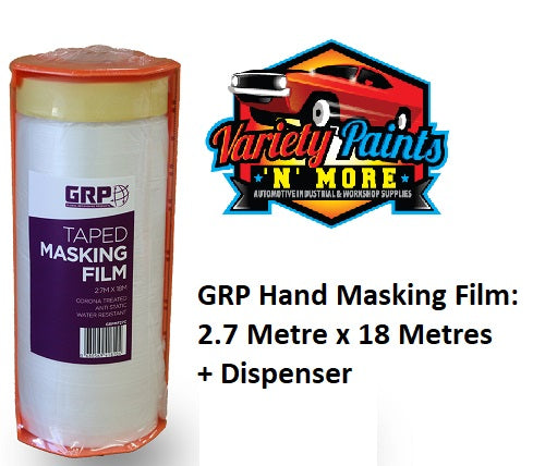 GRP Hand Masking Film: 2.7M x 18M + Dispenser