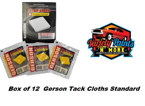 Box of 12  Gerson Tack Cloths Standard