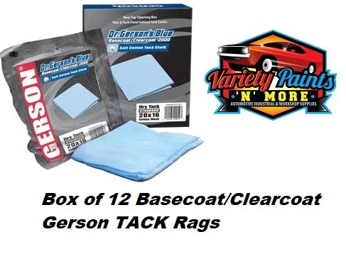 Gerson Tack Cloth Blue Basecoat / Clear Coat 2000 Dry box of 12