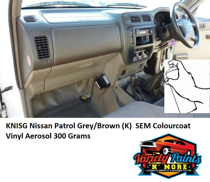 KNISG Nissan Patrol Grey/Brown (K)  SEM Colourcoat Vinyl Aerosol 300 Grams